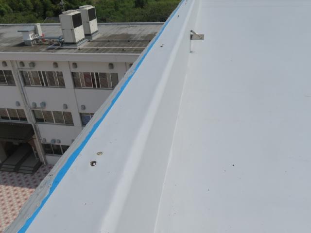 二松学舎大学附属中学校・高等学校校舎屋上シート防水工事のAfter