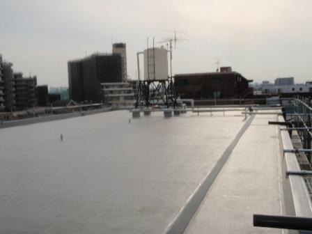 東京都葛飾区 屋上塩ビシート防水工事