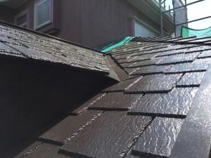 千葉県柏市S屋根塗装上塗り完了