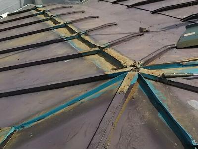 柏市I様 屋根の下地処理・防水シート敷き