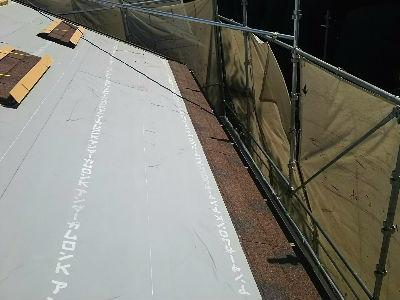 屋根材葺き1