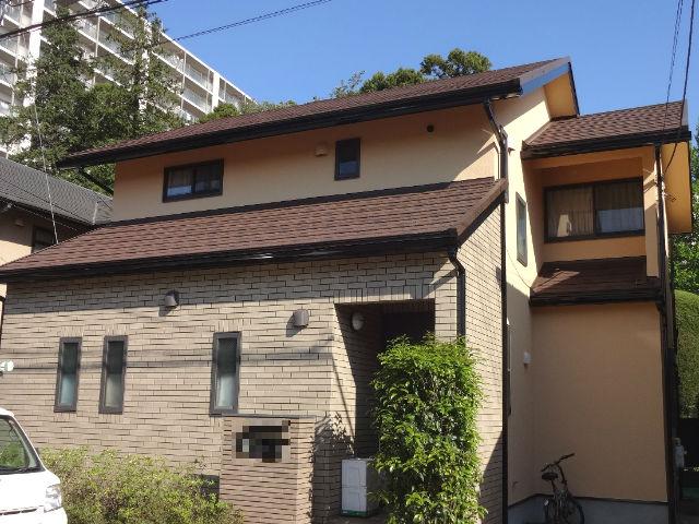カバー工法をした住宅