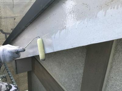 八潮市S様 破風板補修・塗装