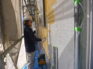 つくば市Y様邸 1F外壁塗装工程