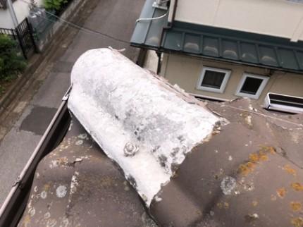 流山市M様 屋根葺き替え前の状態