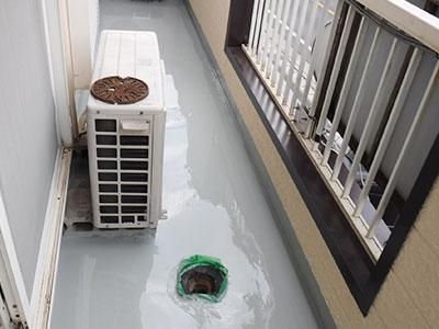 富里市K様アパート ベランダ補修・防水塗装