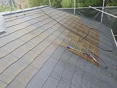 成田市K様 屋根の高圧洗浄