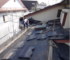 松戸市K様 屋根材の撤去