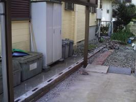 劣化した土台の撤去3