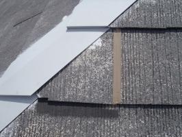 スレート屋根の割れ補修4
