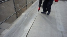 東京都葛飾区柴又 屋上防水塩ビシート機械固定工法
