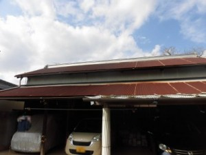 つくば市I様邸 駐車場屋根改修