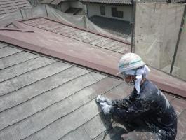 屋根劣化塗膜の除去