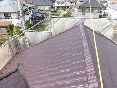 柏市豊四季M様邸 屋根塗装