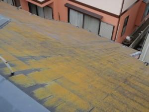 我孫子市N様邸のコケだらけの屋根 塗替え前