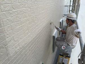 千葉県八千代市大和田新田 U様邸 外壁 上塗り