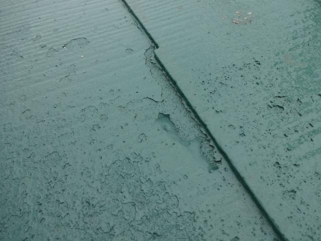 松戸市 屋根塗装の剥がれ半年で
