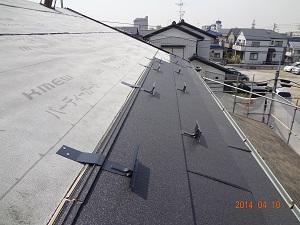松戸市K様 ガルバ鋼板屋根の取付け