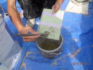 浸透強化シーラー塗布