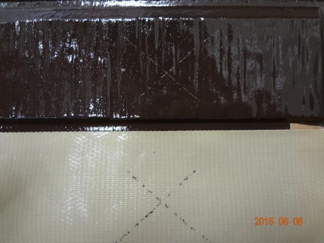 下塗り難付着用の高密着シーラー側のクロスカットテーピング試験