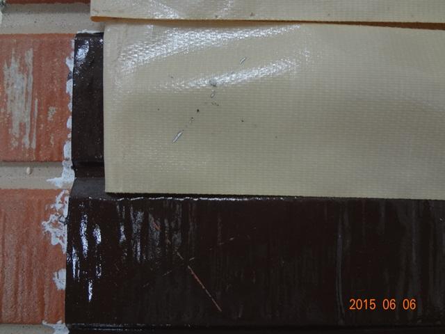 下塗りパーフェクトサーフ側のクロスカットテーピング試験