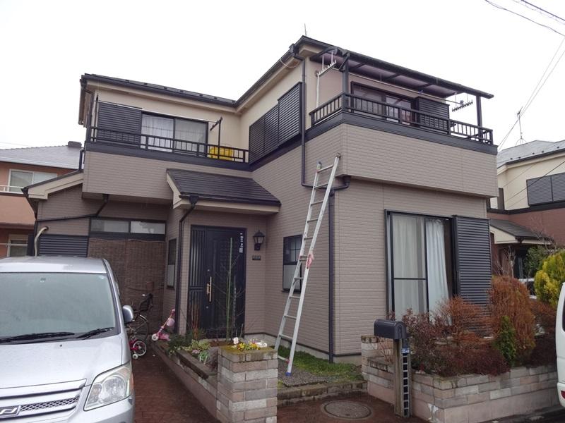 千葉県鎌ケ谷市S様外壁塗装4年点検全景