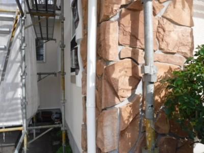松戸市殿平賀N様 雨樋の割れを部分交換