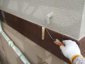 守谷市A様邸 幕板塗装