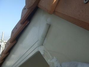 柏市C様邸 破風板塗装