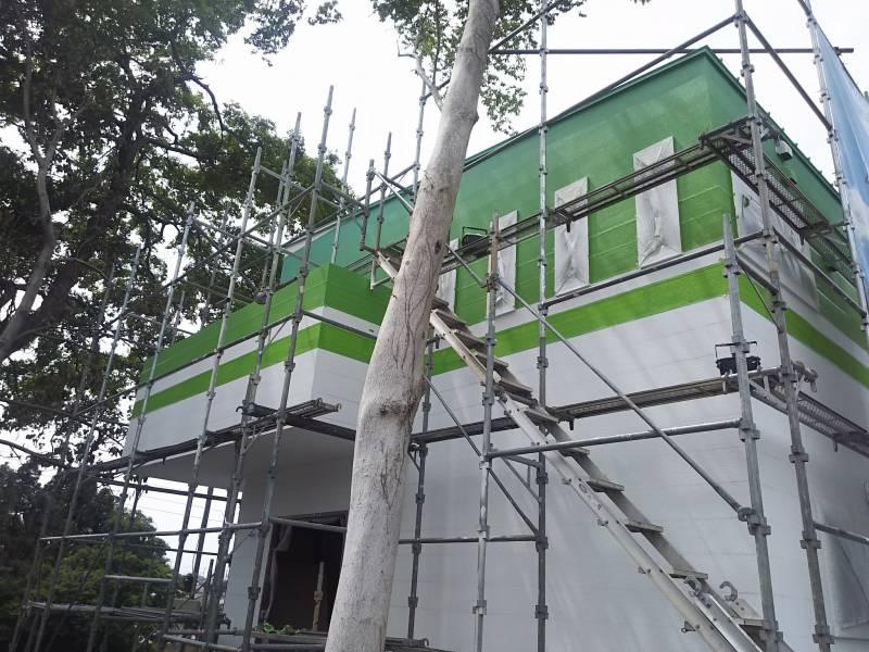 茨城 牛久 外壁グラデーション塗装