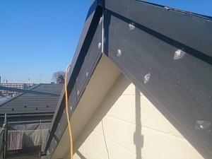 流山市S様邸 破風板塗装