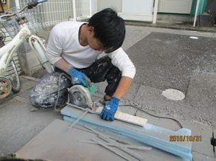 千葉県松戸市 凍害部交換と棟板金交換
