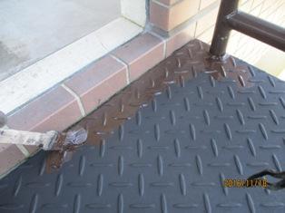 千葉県柏市酒井根 鉄骨階段上塗り塗装