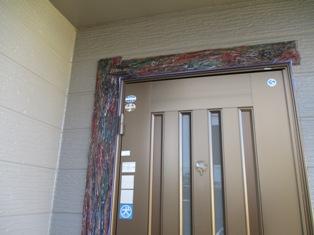 千葉県流山市、外壁、モルタル造形塗装