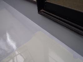 千葉県野田市K様邸の外壁塗装と屋根塗装工程:トップコート塗布
