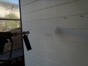 柏市F様 外壁 高圧洗浄の様子
