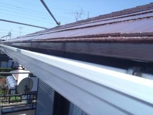 茨城県取手市 M様邸 外壁塗装と屋根塗装の雨どいの施工後写真