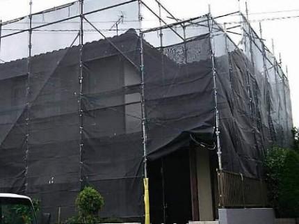 流山市M様 屋根工事時の周囲配慮
