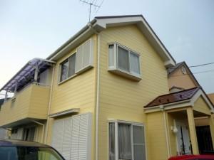 柏市K様邸の外壁塗装と屋根塗装の外観の施工後写真