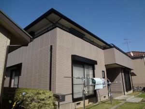 柏の外壁塗装と屋根塗装の外壁の施工後写真