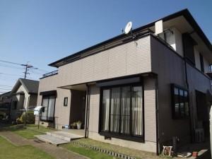 柏の外壁塗装と屋根塗装の外観の施工後写真