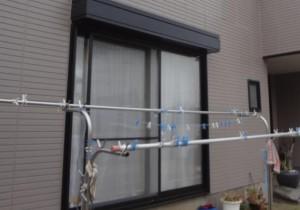 柏の外壁塗装と屋根塗装のシャッターの施工後写真
