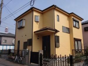 松戸市S様邸の外壁塗装と屋根塗装の外壁の施工後写真