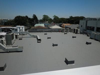 保護コンクリート防水からゴムシート防水アフター