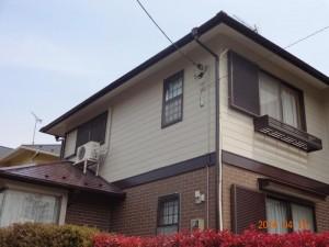 白井市 S様の外壁塗装と屋根塗装の外壁の施工後写真