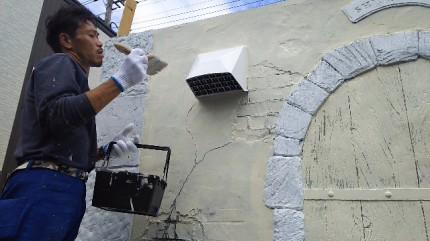千葉県柏市 モルタル造形 エイジング塗装