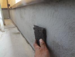 千葉県松戸市S様邸の外壁塗装と屋根塗装工程:ベランダトップコート