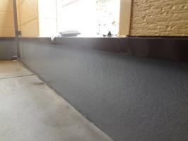 千葉県松戸市S様邸の外壁塗装と屋根塗装工程:トップコート塗布