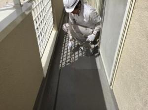 茨城県守谷市久保ヶ丘K様邸 ベランダ塗装7