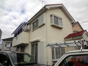 柏市K様邸の外壁塗装と屋根塗装の外観の施工前写真